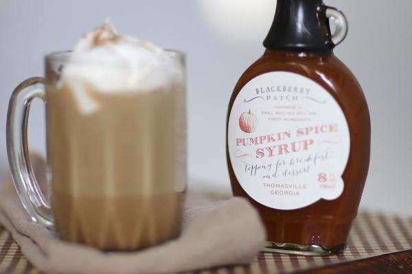 Pumpkin Latte mit Kürbis-Sirup