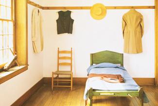 Ein Zimmer eingerichtet im Shaker-Stil