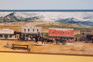 Bordüre im Western-Stil